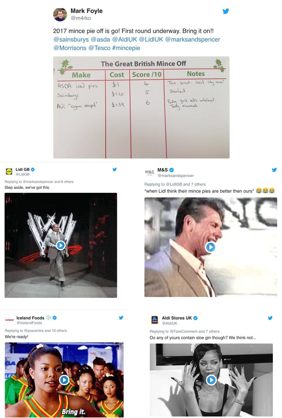Twitter 'Mince Pie Battles'