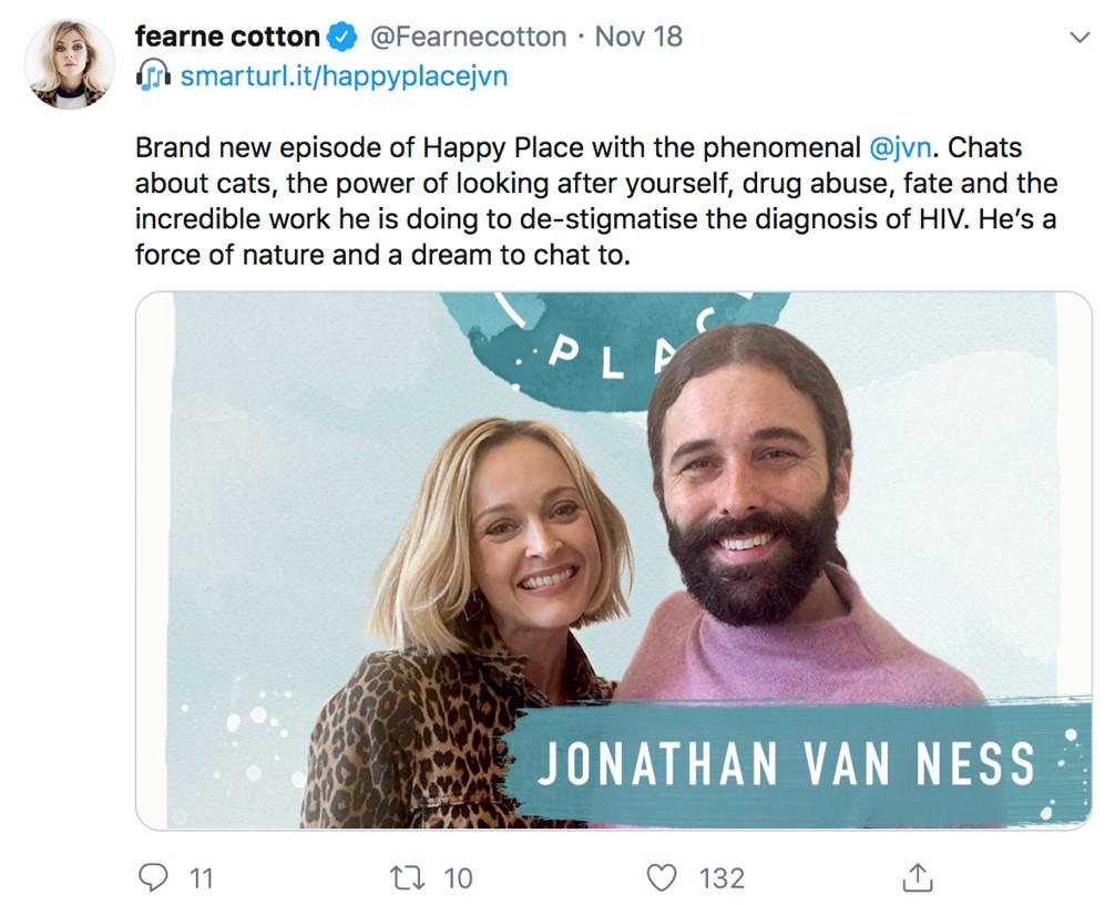 Fearne Cotton tweet