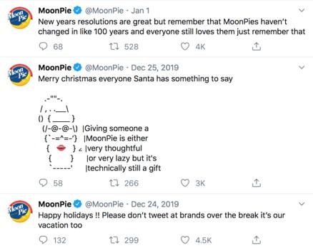 MoonPie Christmas Tweets