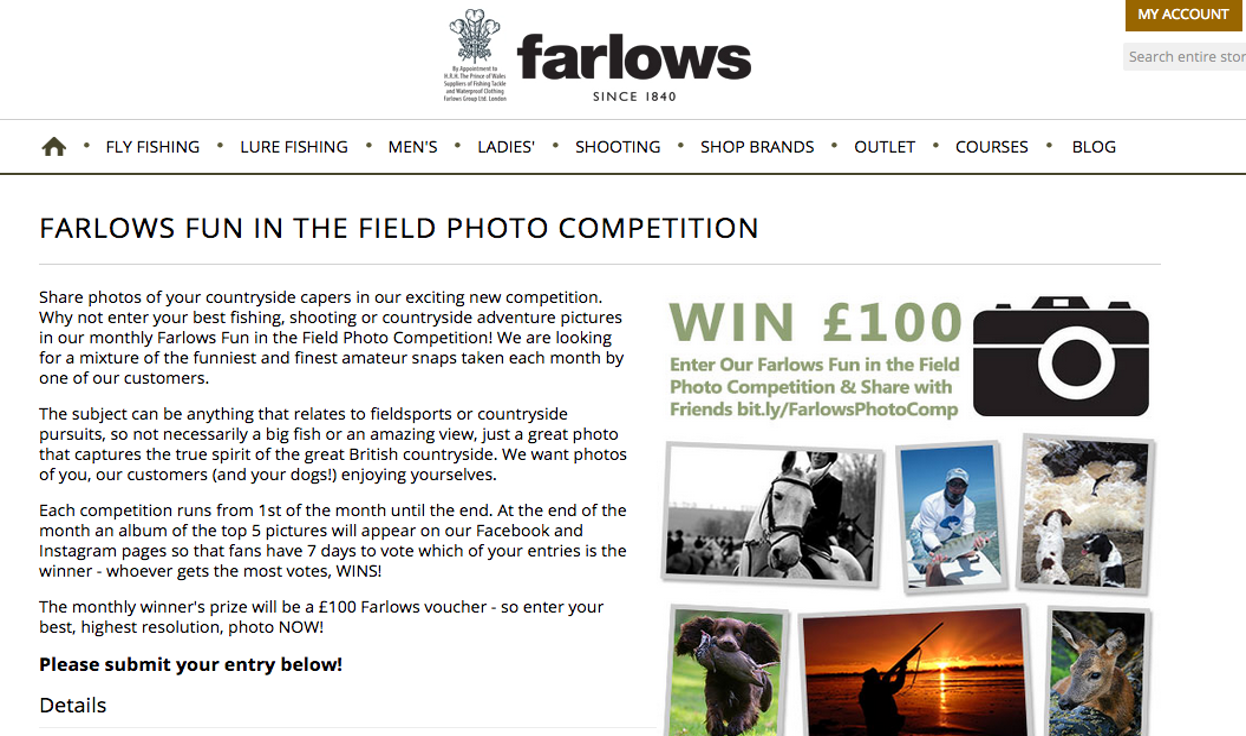 Farlows user-generated content example