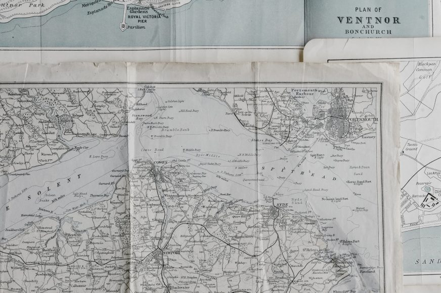 close up of some maps