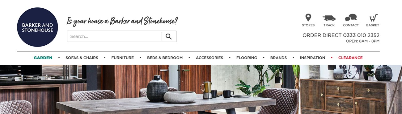 Barker and Stonehouse website homepage