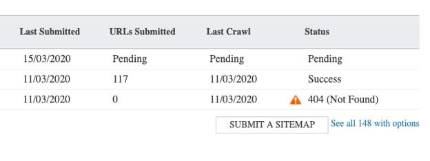 Bing Webmaster Tools submit sitemap