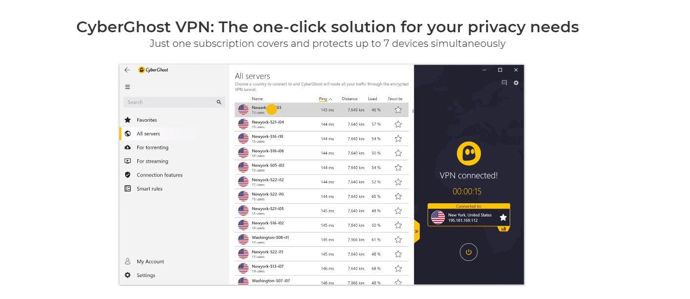 CyberGhost VPN website