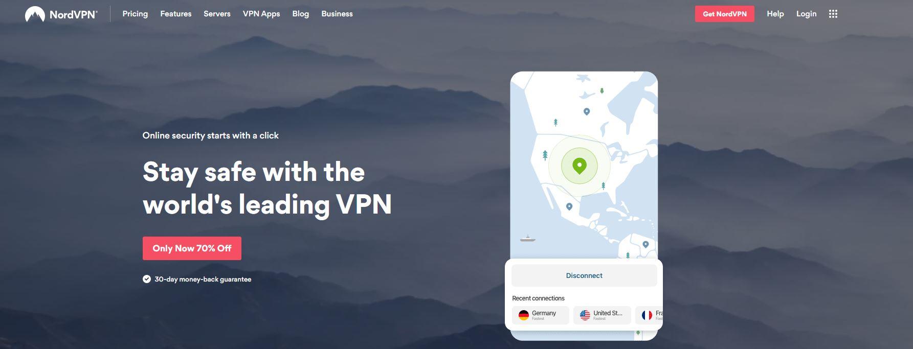 NordVPN website