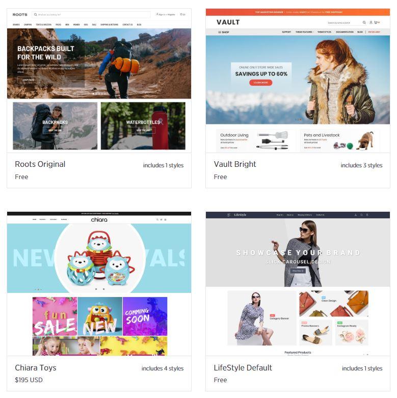 BigCommerce ecommerce templates