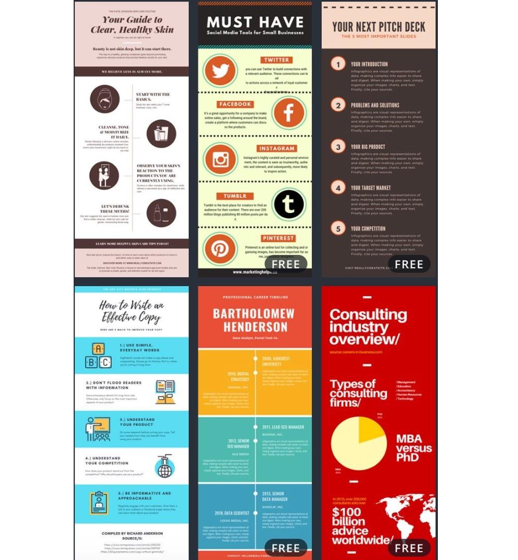Canva infographics