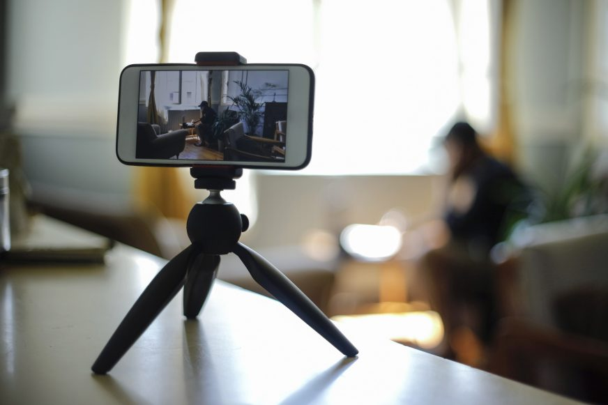 Filming on smartphone