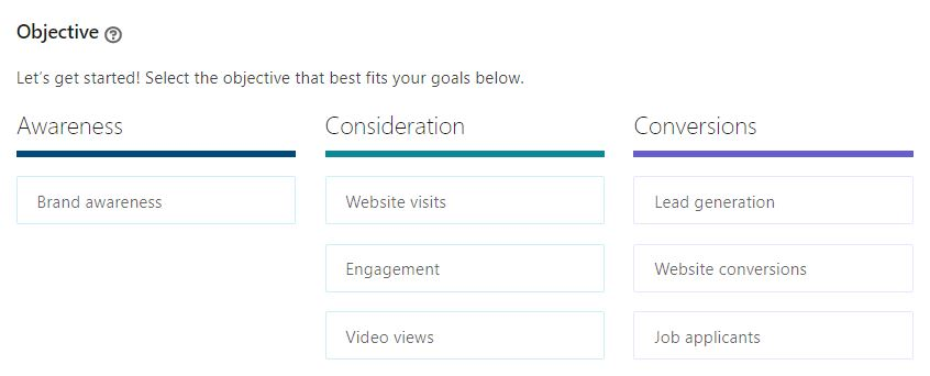 LinkedIn Ad Objectives