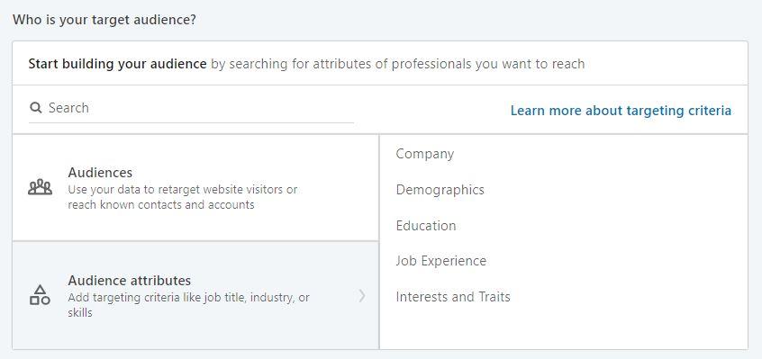 LinkedIn Ads audience