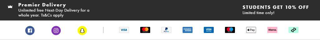 ASOS payment options