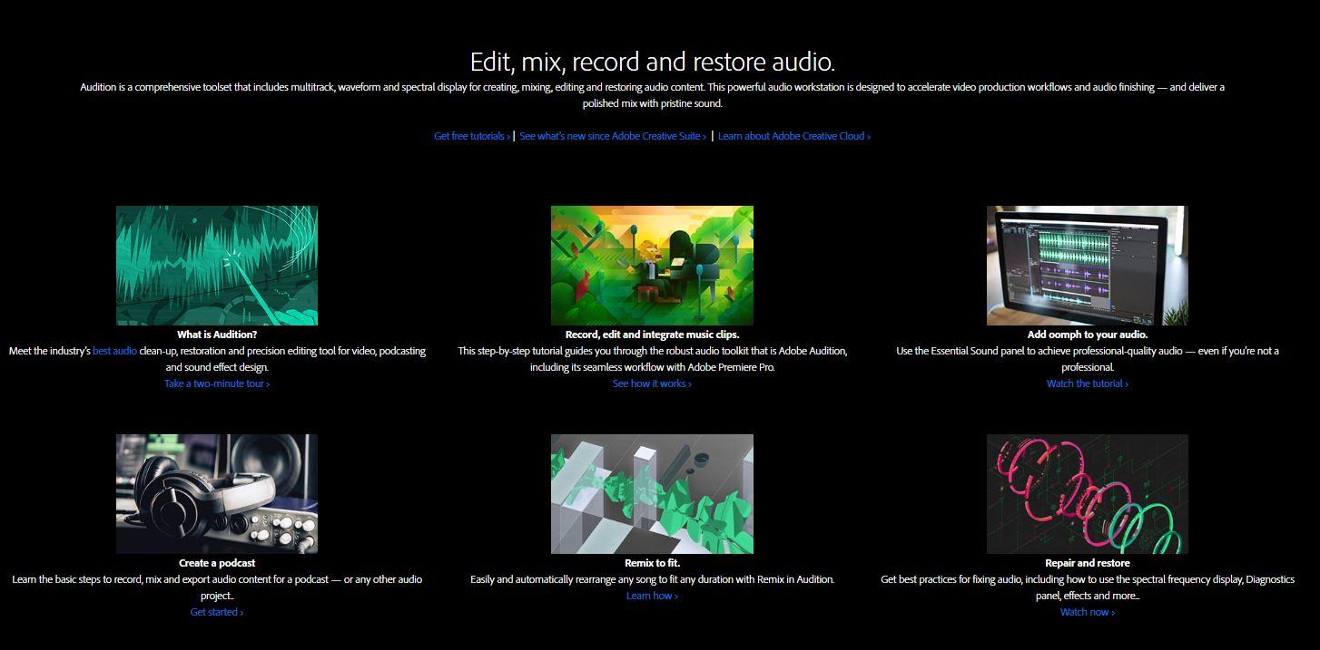 Adobe Audition software screenshot