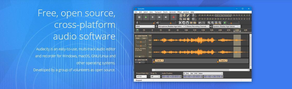 Audacity software screenshot