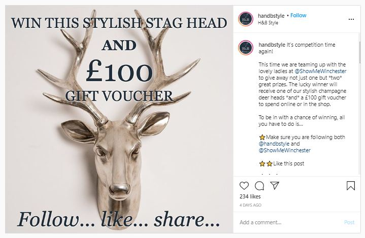 Instagram Christmas competition