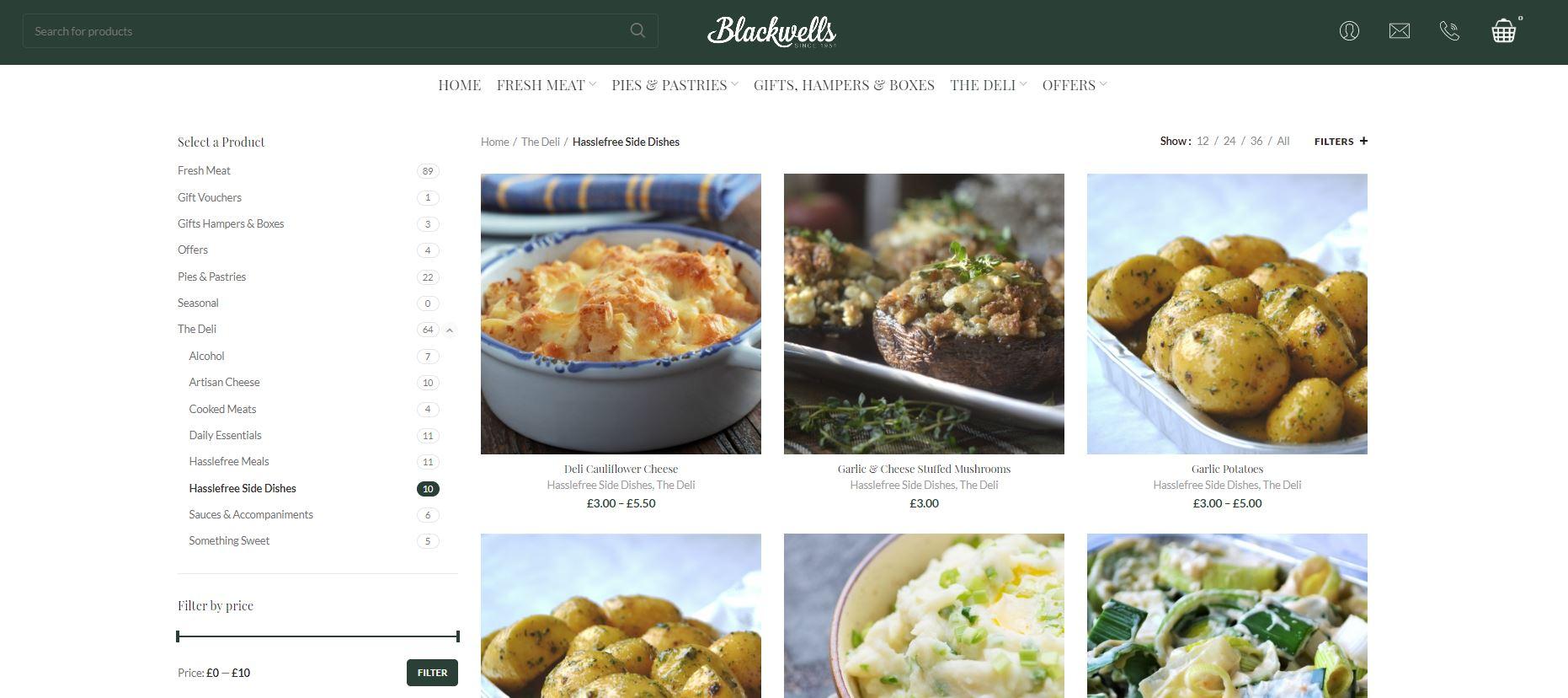 Blackwells website page