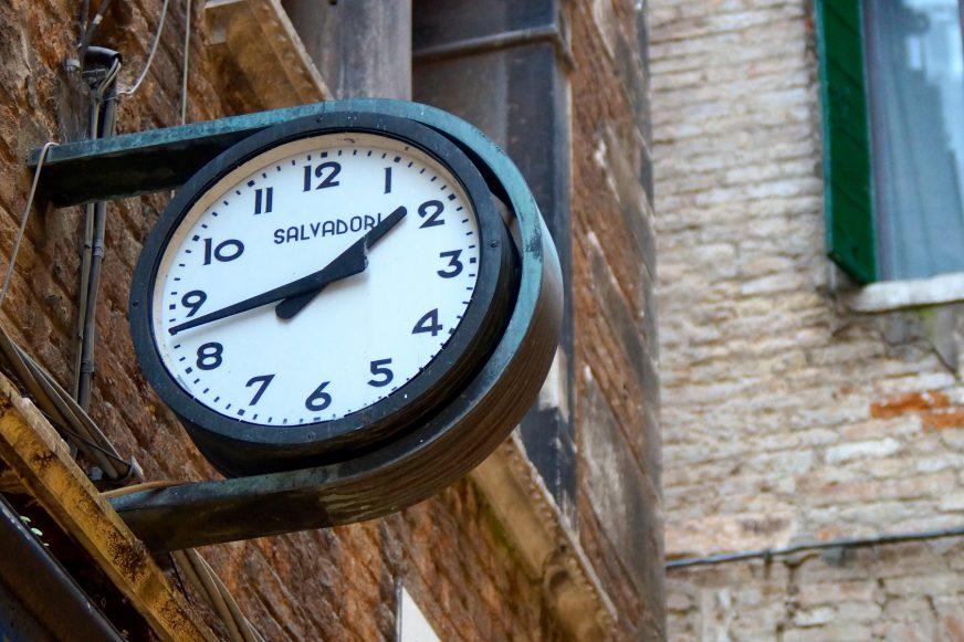 clock on outside wall
