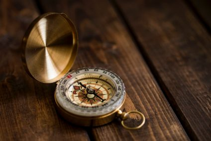 compass on table