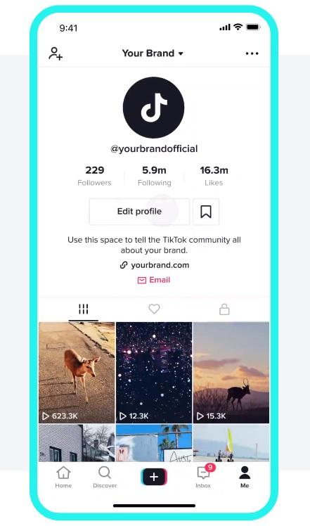 TikTok profile